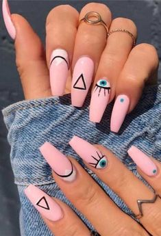 Gorgeous Nails Designs You'll Change For in 2020 – 1 Matte Pink Nails, Blue Acrylic Nails, Acrylic Nail Designs, Gel Nails, Coffin Nails, Glitter Nails, Pastel Nail, Manicure, Nail Art Designs