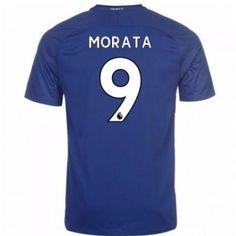 Chelsea Alvaro Morata 9 Domácí Dres 17-18 Krátký Rukáv Chelsea Shirt, Manchester United, Premier League, Mens Tops, Shirts, Fashion, Goaltender, Leotards, Football Soccer
