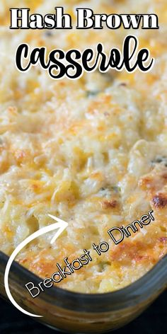 Easy Baked Cheddar Hash Brown Casserole will take you from breakfast to dinner with ease. This delicious side dish will become a family favorite! Brunch Recipes, Sweet Recipes, Breakfast Recipes, Breakfast Dishes, Breakfast Ideas, Yummy Recipes, Southern Breakfast, Best Breakfast, Overnight Breakfast