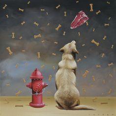 Robert Deyber   ACRYLIC              Every Dog Has His Day II