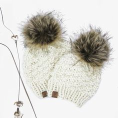Did you know we're now doing our single pom Olive Beanies in little sizes??  This year, we've added single pom hats starting at newborn size! They are too cute with one of our luxe poms topping them off.   For sizes newborn to toddler, poms are securely sewn into hats. For child & adult sizes, they are detachable (and interchangeable 🙌) with an oversized metal snap.   Pictured: Mommy & Me Olive Beanie Set in Cream w Highland Pom . . .  #knitbeanie #mommyandme #fauxfur #roughbarkknits… Pom Pom Hat, Pom Poms, Knit Beanie, Mommy And Me, Beanies, Faux Fur, Winter Hats, Child, Cream