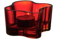 Iittala Aalto kynttilälyhty 55 mm punainen - sopii hyvin muiden lyhtyjeni joukkoon