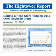 November 20, 2012: Get a Head Start on Hedging 2013 Corn, Soybean Crops