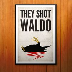 Twin Peaks stampa del manifesto, hanno sparato Waldo, Myna uccello Poster