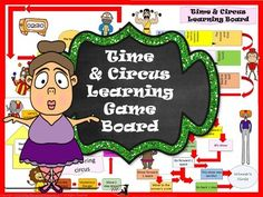 Time+and+Circus+Learning+Game+Board+from+TiePlay+Educational+Resources+LLC+on+TeachersNotebook.com+-++(8+pages)++-+Price+$1.00+Time+and+Circus+Learning+Game+Board+may+be+used+as+game+with+Digital+Time+Circus+Task+Cards,+sold+separately.