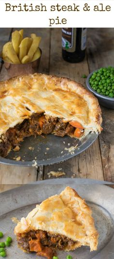 Steak and ale pie is a British classic found at most pubs around England. - Steak and ale pie is a British classic found at most pubs around England. Serve it with pea and chi - Scottish Recipes, Irish Recipes, Pie Recipes, Cooking Recipes, English Food Recipes, British Food Recipes, British Meals, Russian Recipes, Curry Recipes