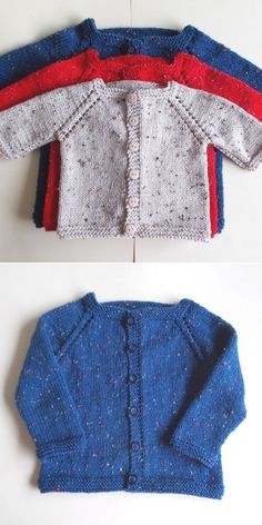 Toddler Cardigan, Baby Boy Cardigan, Baby Girl Cardigans, Knitted Baby Cardigan, Knit Baby Sweaters, Toddler Knitting Patterns Free, Baby Cardigan Knitting Pattern Free, Knitting For Kids, Free Knitting