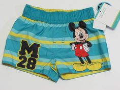NWT Disney Mickey Mouse Infant Swim Suit Trunks Size Toddler Boys 5T #Nickelodeon #SwimBottoms