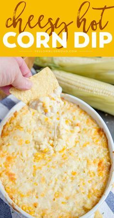 Cheesy Hot Corn Dip This Cheesy Hot Corn Dip is a creamy, cheesy delicious dip that's perfect for all your summer parties. It's great for tailgating, too! - Everything About Appetizers Appetizer Dips, Yummy Appetizers, Appetizers For Party, Appetizer Recipes, Picnic Recipes, Crock Pot Appetizers, Camping Appetizers, Mexican Appetizers Easy, Mexican Dips