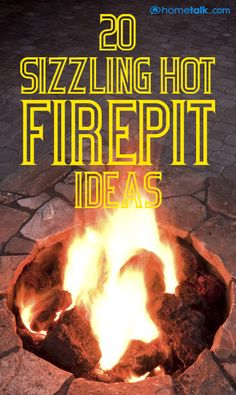 Sizzling Hot Firepit Ideas Idea Box by Linda A Blast 20 {Sizziling Hot} Fire Pit {Sizziling Hot} Fire Pit Ideas! Backyard Projects, Outdoor Projects, Lawn And Garden, Backyard Landscaping, The Great Outdoors, Outdoor Gardens, Outdoor Living, Outdoor Decor, Garden Design