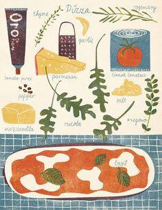Pizza Illustration, Barbara Dziadosz