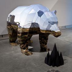 Anna Garforth, Wandering Territory, sculpture en carton, 2011 | Image © MOTI | #design #furniture