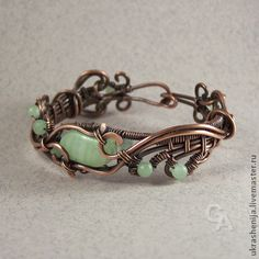 "Handmade jewelry sets.  Fair Masters - handmade bracelet and earrings set ""Wild Grass"".  Handmade."