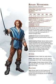 Fantasy Forest, Fantasy Rpg, Medieval Fantasy, Dungeons And Dragons Characters, D D Characters, Fantasy Characters, Forgotten Realms, Storm Kings Thunder, Dnd Stats