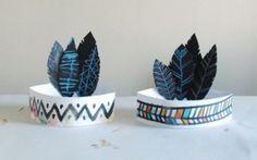 carnaval mardi gras carnastoltes diy indio plumas gorro sombrero hat disfraz