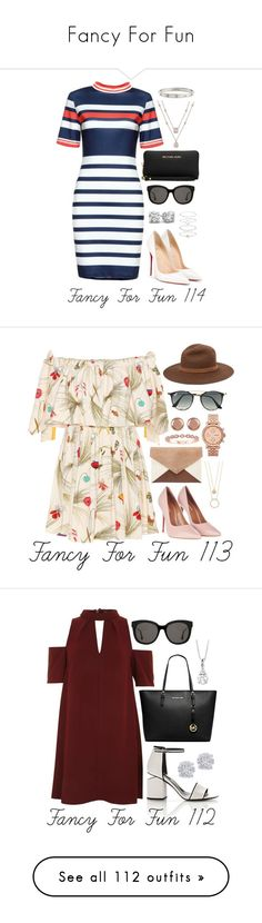 """Fancy For Fun"" by megan-walz21 ❤ liked on Polyvore featuring Christian Louboutin, Michael Kors, Cartier, Gentle Monster, Accessorize, Fendi, Topshop, Ray-Ban, Kate Spade and FOSSIL"