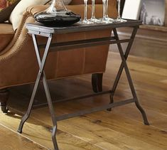 Carter Metal Folding Tray Table #potterybarn