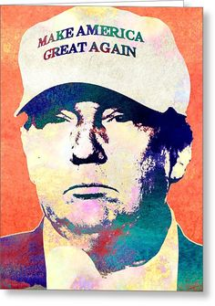 Donald Trump 2016 Presidential Candidate Greeting Card by Elena Kosvincheva #donald trump #elections #politician #candidate #president #t-shirts #office supplies #poster
