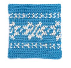 Fair Isle Crochet Block ... think about how to translate to whole blanket...