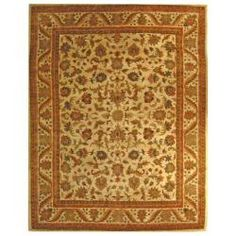 @Overstock - This ivory-colored, handmade, wool rug features an eye-catching and elaborate, oriental-inspired design. With sage, dark red, deep blue, and gold colors, this rug is the perfect addition to a room featuring traditional or contemporary style decor.http://www.overstock.com/Home-Garden/Handmade-Heritage-Ivory-Wool-Rug-76-x-96/5217411/product.html?CID=214117 $322.19