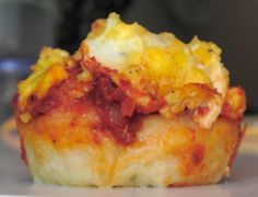 Egg & Cheese Muffins with homemade ketchup!