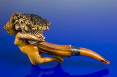 Meerschaum tobacco pipe of a nude woman clutching a basket of flowers, European, c. Meerschaum Pipe, Flower Basket, Sea Foam, Alcohol, Smoking Pipes, Smoke, Tobacco Pipes, Cigars, Motorcycles