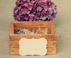 Cute Ring Bearer Box  Outside Country Wedding Party  by Modern101, $15.00