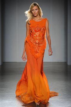 Matthew Williamson Spring 2012: bright orange