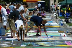 Chalk the Block, August 2-5, 2012.  St. Joseph, MI.  This is a very fun and unique festival!