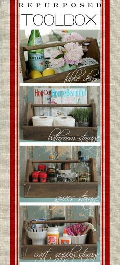 Repurposed Toolbox Ideas