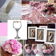 pink grey wedding inspiration
