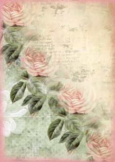 Classic Rose Beauty Background Backing Paper on Craftsuprint designed by Eileen Mikolayunas - This Elegant Backing Paper features a Cascade Border of Cottage Chic Roses on a Coordinating Distressed Background ... Very Feminine! It would be a Lovely Addition for any Card Making Project. Enjoy! - Now available for download!
