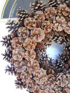 Back to the basics pinecone wreath by ItsTheHolidays on Etsy, $70.00