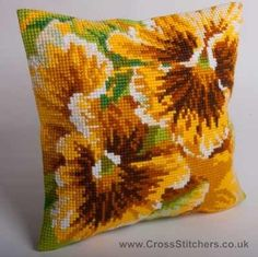 Automne - Autumn Cushion Front Cross Stitch Kit by Collection D'Art