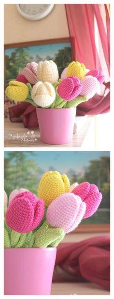 Beautiful Tulip Flower Crochet Pattern
