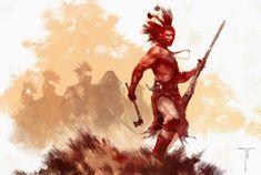 Frank Victoria's Art Blog: Iroquois and Wendigo...kp
