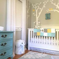 Project Nursery - Aqua, Yellow and Gray Elephant Nursery