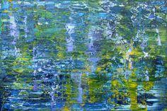 Koen Lybaert - Giverny 001 [Abstract N° 1510] - oil on canvas [150 x 100 x 4 cm] / 2016