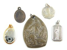 Vintage Catholic Medal Lot Virgin Mary, Lady of Medjugorje, Jesus Christ, Lady of Lourdes - Religious Charms by LuxMeaChristus