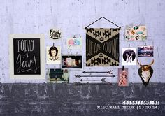 MISC CONVERSIONS (S3 TO S4) • Casas Lindas Wall Clutter • Clip Wall Decor Recolors (Mesh by @rachelssimstuff grab it here!) • Curio Wall Papers • Old Camera • Papers Wall Clutter *bonus • Studio...