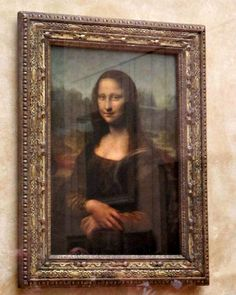 Mona Lisa ~ Very exciting seeing this at the Louvre!  They had it behind glass.