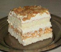 Pyszne ciasto biały lion, z ryżem preparowanym