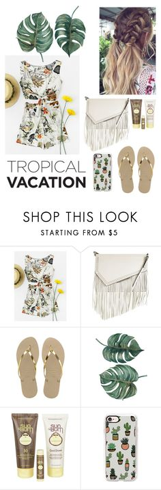 """""""Untitled #245"""" by fashioncecily ❤ liked on Polyvore featuring Salt Water Sandals, Kendall + Kylie, Havaianas, Sun Bum and Casetify"""
