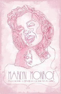 marilyn illustration