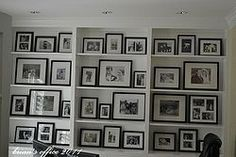 Office: Photo Gallery Wall, done with frames from Pottery Barn and Wal-Mart