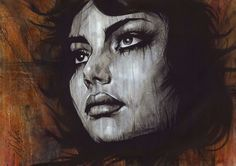 """Non Nude OIL & ACRYLIC CANVAS Painting ORIGINAL Portrait By L Dolan 16x24"""" Ember"""