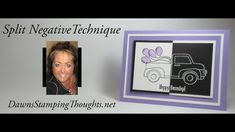 cardmaking video tutorial by Dawn Griffith: Split Negative Technique . fun technique made easy with her stamp positioner . Stampin Up Karten, Stampin Up Cards, Card Tutorials, Video Tutorials, Dawn Griffith, Dawns Stamping Thoughts, Old Video, Educational Videos, Ink Pads