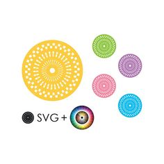 SVG motif, clipart, template, prints, vector graphics, mandala, geometry, printable craft supplies, illustrations, commercial use