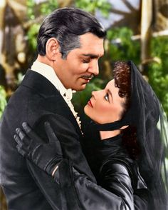 """Gone With the Wind"": Vivien Leigh/Scarlett O'Hara & Clark Gable/Rhett Butler Rhett Butler, Scarlett O'hara, Vivien Leigh, Clark Gable, Classic Movie Stars, Classic Movies, British Actresses, Actors & Actresses, Classic Hollywood"
