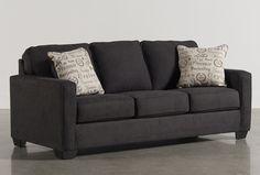 Alenya Charcoal Queen Sofa Sleeper - Signature